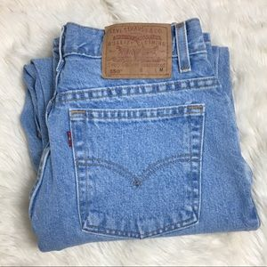 Levi's High Waisted 550 Relaxed Fit Tapered Leg